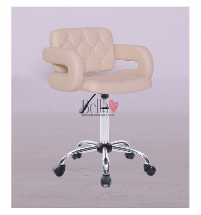 Bella furniture cream chairs on wheels Ireland. Chair on wheels cream BFHC8403K