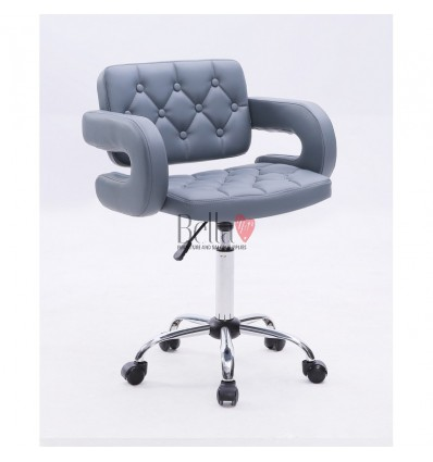 Bella furniture Grey chairs on wheels in Ireland. Stylish grey Chairs on wheels bella furniture