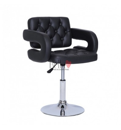 Bella furniture black chairs in Ireland. Unique salon chairs BFHC8403N