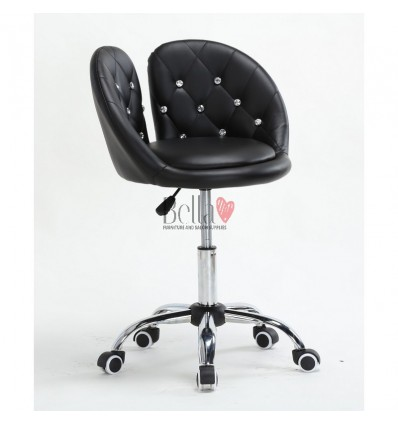 Unique beauty salon black chairs. Bella Chair on wheels Black BFHC944K