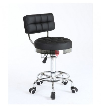 Bella Furniture Black chairs on wheels in Ireland. Hairdresser chairs for sale black BFHC636