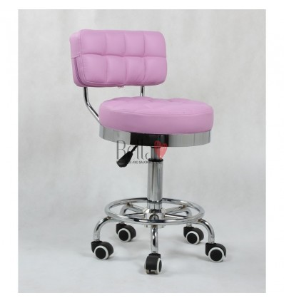 Bella Furniture Lavender chairs on wheels in Ireland. Hairdresser chairs for sale purple BFHC636