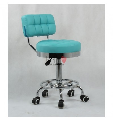 Bella Furniture Turquoise chairs on wheels in Ireland. Turquoise Hairdresser chairs for sale BFHC636