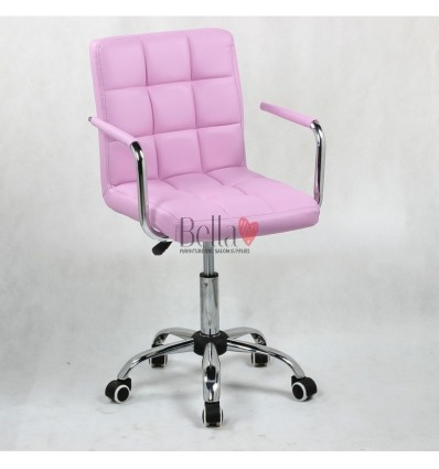 Bella Furniture Lavender chairs on wheels in Ireland. Nail Salon chairs for sale. Stylish chairs for nail salon Ireland. lavende