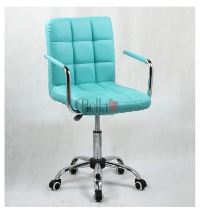 Bella Furniture Turquoise chairs on wheels in Ireland. Nail Salon chairs for sale. Stylish chairs for nail salon Ireland. turquo
