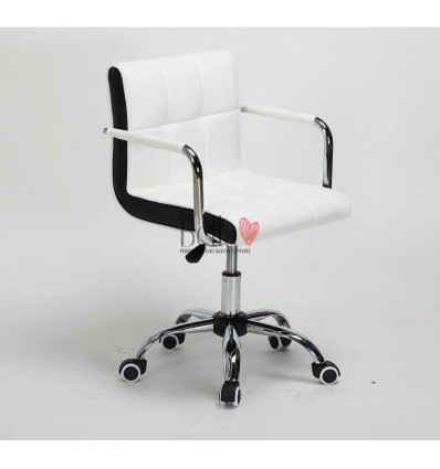 Bella Furniture White chairs on wheels in Ireland. Nail Salon chairs for sale. Stylish chairs for nail salons Dublin. white BFHC
