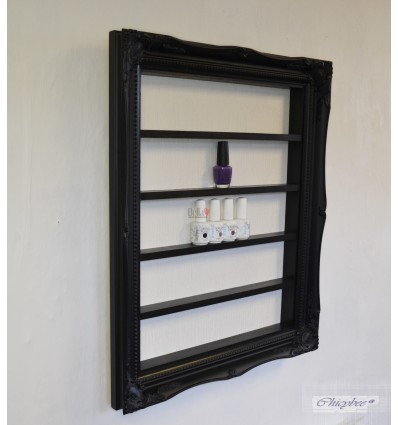BLACK BAROQUE NAIL POLISH DISPLAY FRAME