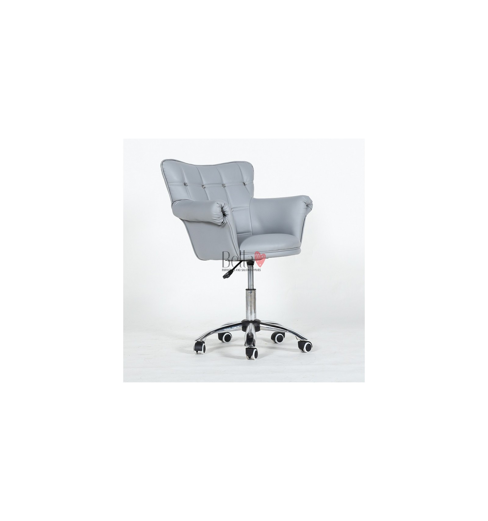 Stupendous Chair On Wheels Grey Bfhc804Ck Home Interior And Landscaping Ologienasavecom