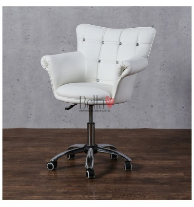 Stylish Hairdresser chairs for sale. Stylish chairs for beauty salons. White BFHC804CK