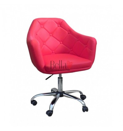 Salon chairs for sale Dublin Ireland. Stylish chairs for beauty salons. Chair on wheels Red BFHC831K