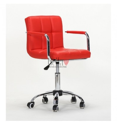 Red Chairs for Nail salon, Beauty salon and Hairdresser Ireland Red BFHC8325K