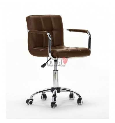 brown Chairs for Nail salon, Beauty salon and Hairdresser Ireland brown BFHC8325K