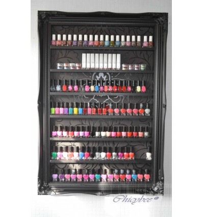 BLACK NAIL RACK - cLASSIC BLACK DAMASK