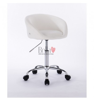 beautician chairs on wheels White BFHC701K