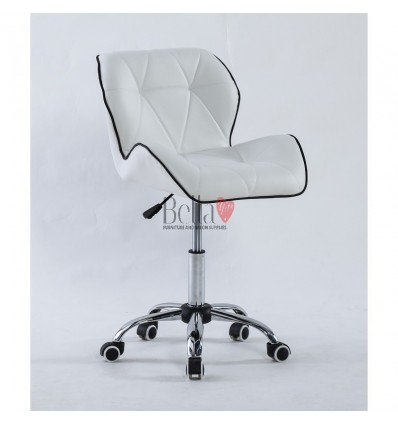 Luxury, elegant and stylish white chairs for beauty and nail salons White BFHC1062K