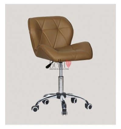 Elegant and stylish caramel chairs for beauty salons and nail salons BFHC111K