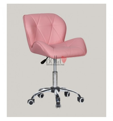 Elegant and stylish pink chairs for beauty salons and nail salons Chair on wheels Pink BFHC111K
