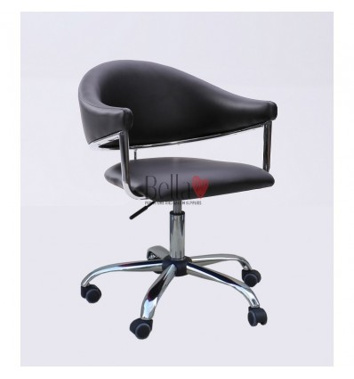 Black chairs for hairdressers. Black chair for beauty and nail salons BFHC8056K
