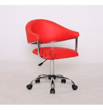 red chairs for hairdressers. Red chair for beauty and nail salons BFHC8056K