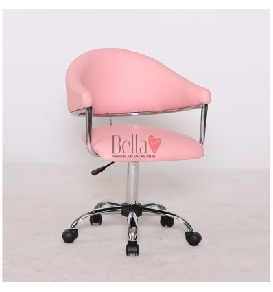 pink chairs for hairdressers. pink chair for beauty and nail salons BFHC8056K
