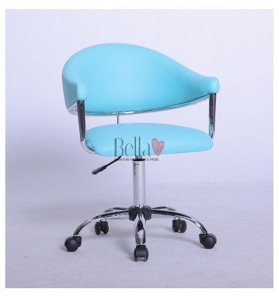turquoise chairs for hairdressers. turquoise chair for beauty and nail salons BFHC8056K