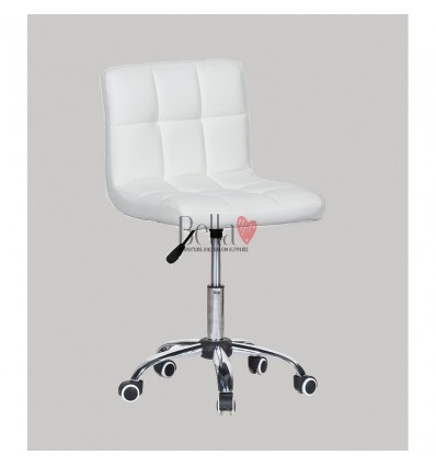 white chairs for hairdressers. white chair for beauty salons Ireland BFHC8052K