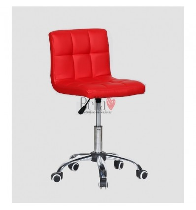 red chairs for hairdressers. red chair for beauty salons Ireland BFHC8052K