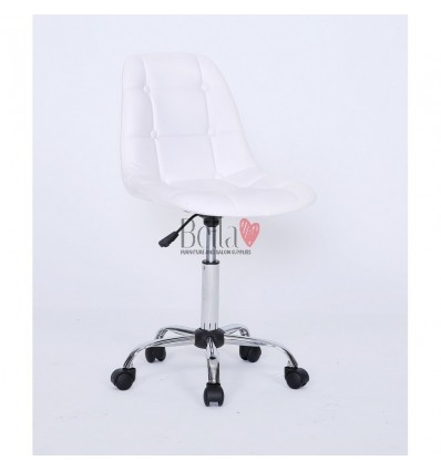 white chairs for beautician. white chair for beauty salons Ireland BFHC1801K