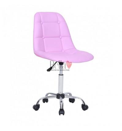 Bella Furniture Lavender Salon chairs on wheels. Chair on wheels lavender BFHC1801K