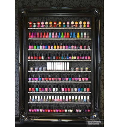 NAIL POLISH RACK - LARGE SIZE WITH DIAMANTE RIBBON & GEMS L
