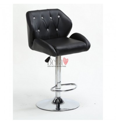 Black Makeup and reception high chairs for sale. High makeup chairs Ireland. Black BFHC949W