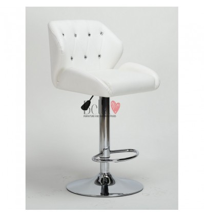White Makeup and reception high chairs for sale. High makeup chairs Ireland. Black BFHC949W