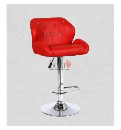 Red Makeup and reception high chairs for sale. High makeup chairs Ireland. red BFHC949W