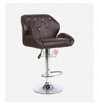 Brown Makeup and reception high chairs for sale. High makeup chairs Ireland. Brown BFHC949W