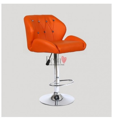 Orange Makeup and reception high chairs for sale. High makeup chairs Ireland. Orange BFHC949W