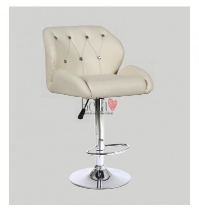 Cream Makeup and reception high chairs for sale. High makeup chairs Ireland. Cream BFHC949W