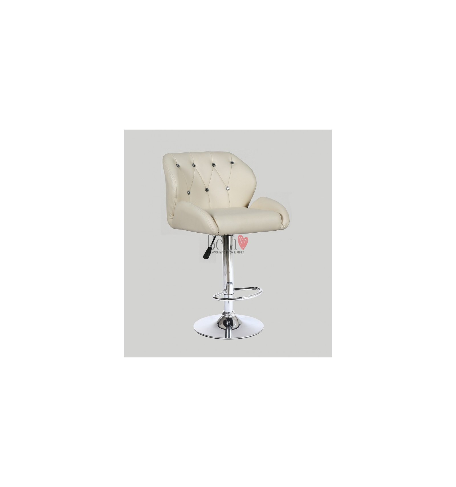 810407032067 Cream Makeup and reception high chairs for sale. High makeup chairs  Ireland. Cream BFHC949W
