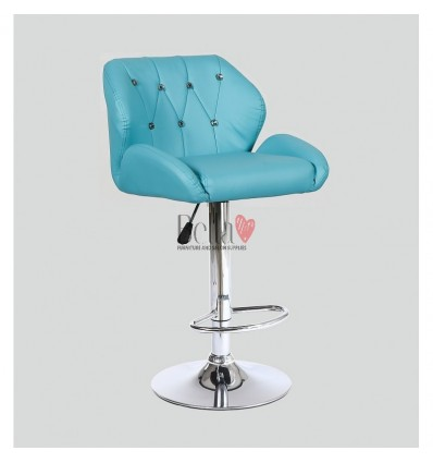 Turquoise Makeup and reception high chairs for sale. High makeup chairs Ireland. Blue BFHC949W