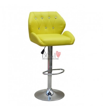 Yellow Makeup and reception high chairs for sale. High makeup chairs Ireland. Yellow BFHC949W