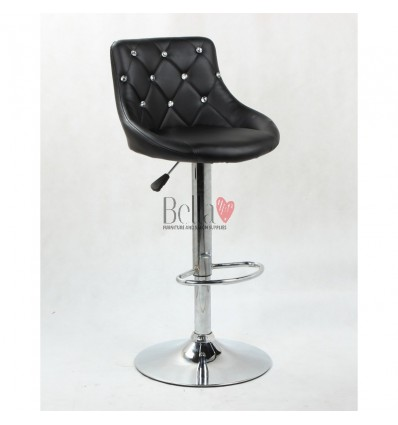 Black High chairs for Makeup salon and beauty salon reception. BFHC931W