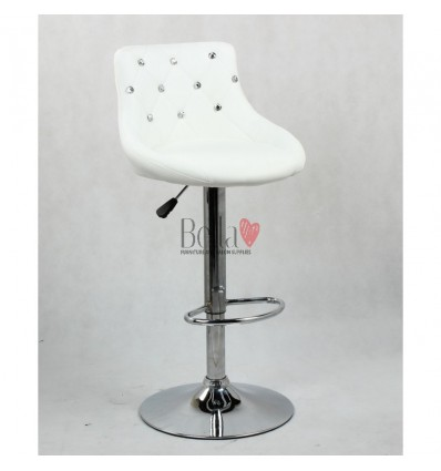 White High chairs for Makeup salon and beauty salon reception. white BFHC931W