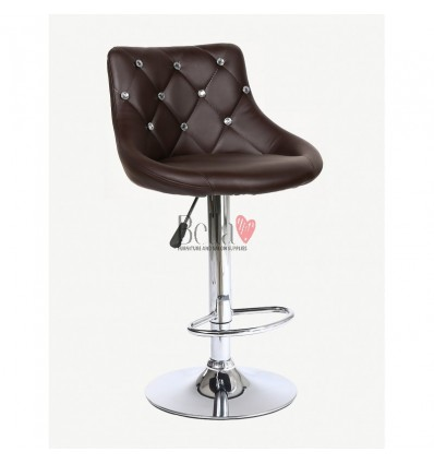 Chocolate High chairs for Makeup salon and beauty salon reception. Browh high chair BFHC931W