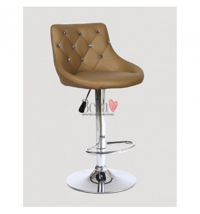 Caramel High chairs for Makeup salon and beauty salon reception. Brown BFHC931W