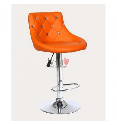 Orange High chairs for Makeup salon and beauty salon reception. Orange BFHC931W