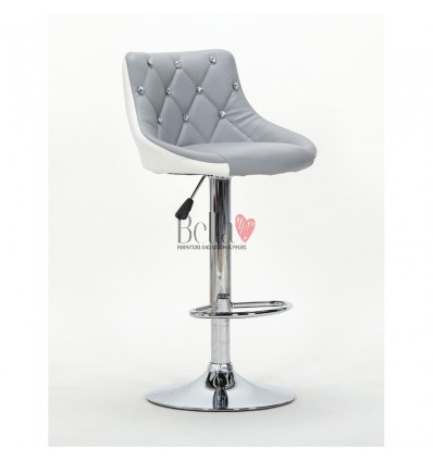 Grey-White High chairs for Makeup salon and beauty salon reception. Grey-white chair BFHC931W