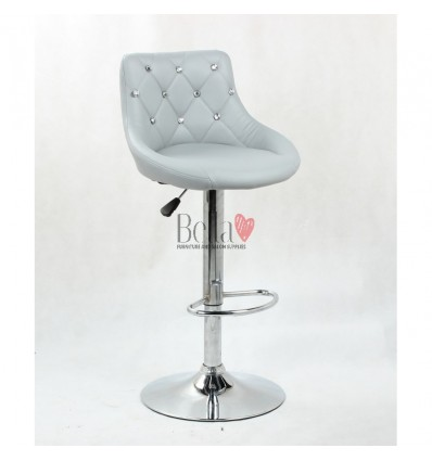 Grey High chairs for Makeup salon and beauty salon reception. Grey BFHC931W