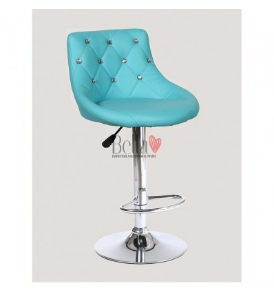 Turquoise High chairs for Makeup salon and beauty salon reception. Blue BFHC931W