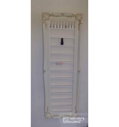 WHITE BAROQUE NAIL POLISH RACK - WITH GOLD LEAF DETAIL