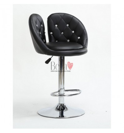 Black High Makeup chairs for makeup salon and beauty salon. High Salon Chair Black BFHC944