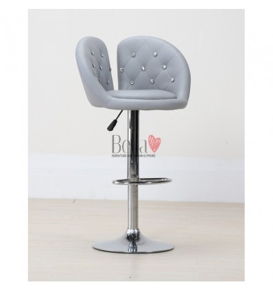 Grey High Makeup chairs for makeup salon and beauty salon. High Salon Chair grey BFHC111W